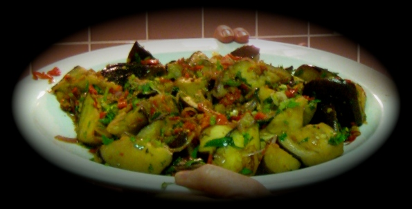 Kylie Kwong's stir-fried eggplant with homemade chilli sauce