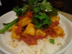Luke Ngyuen's crisp tofu cooked in tomato pepper sauce