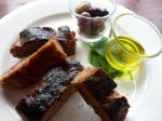 Fig Tree baked red wine & salt bread, local olive oil and olives for two.