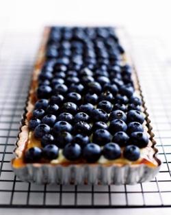 Blueberry, maple and mascarpone tart