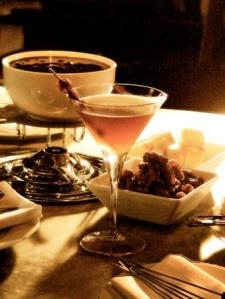 Chocolate Fondue & Martinis