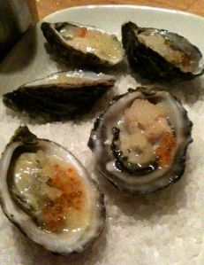 Oysters at Food Society, Darlinghurst