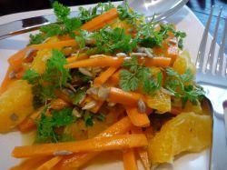 Salad of carrot, orange and chervil